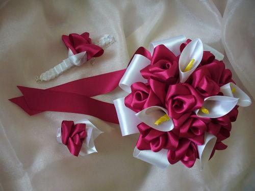 """Букет невесты канзаши своими руками - Студия дизайна """"Conydes"""""""