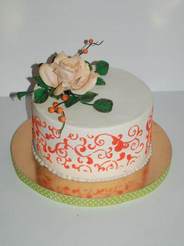 Узоры на торте из мастики